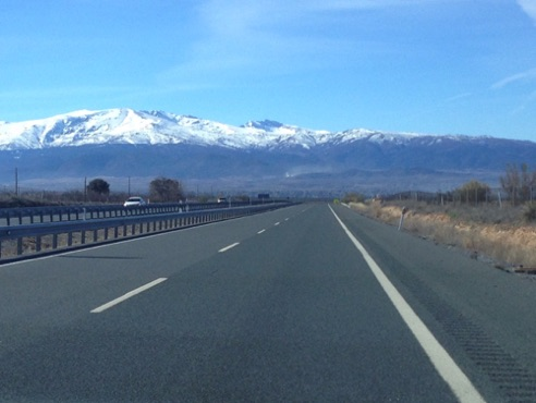 Sierra Nevada on the way to Granada